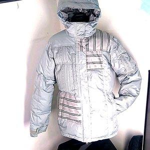 686 Gray Blue Ski/Snowboard Winter Coat